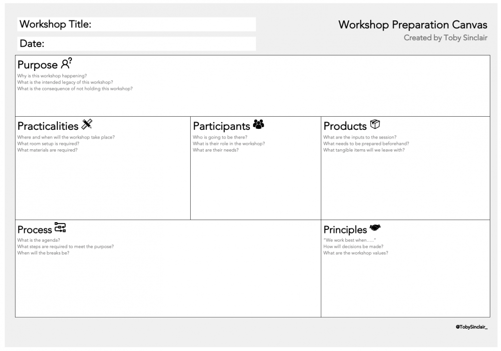 Workshop Preparation Canvas